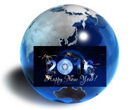 Blue Globe_Happy New Year 2016_Middle_Reduced